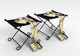 3d折叠椅子模型