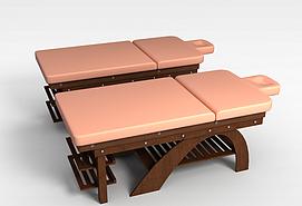 折叠躺椅3d模型