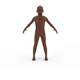木头人男孩3d模型