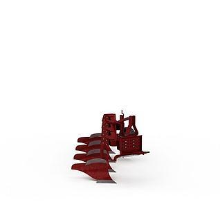 大型收割机3d模型