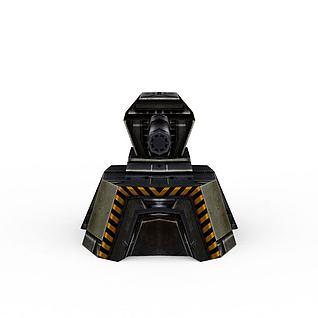 游戏道具装备炮塔3d模型