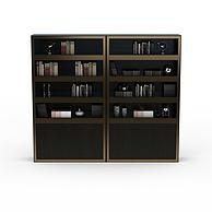 实木书柜3D模型3d模型