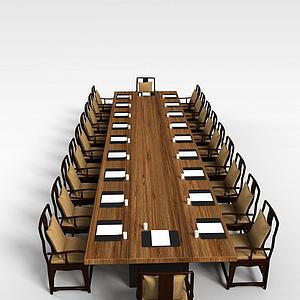 會議室桌椅模型