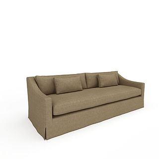 简易风格布艺沙发3d模型
