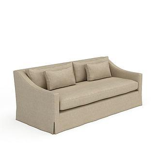 现代风格布艺沙发3d模型