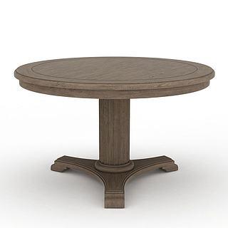 美式风格桌子3d模型