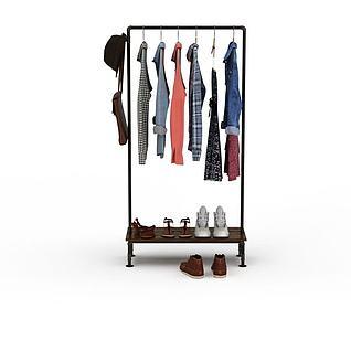 衣服架3D模型