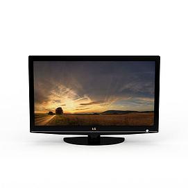 LG液晶电视3d模型