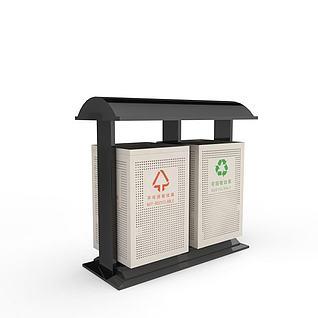 3d道路垃圾桶模型