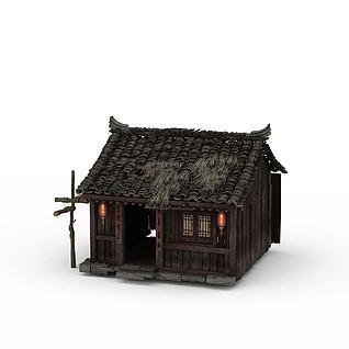 游戏草房3d模型