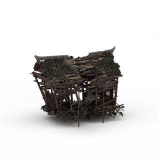 破败木屋3d模型
