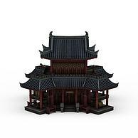 中式古典建筑3D模型3d模型