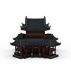 中式古典建筑模型3d模型