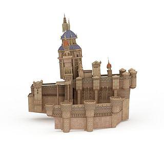 游戏城堡3d模型