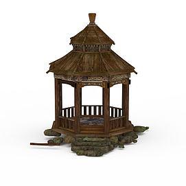 公园亭子3d模型