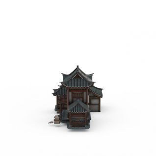 游戏建筑3d模型