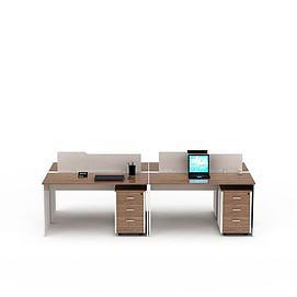 3d办公电脑桌模型