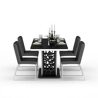 <font class='myIsRed'>餐桌</font>组合3d模型