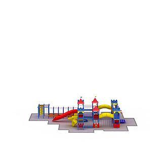 室外游乐建筑3d模型