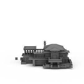 郊外房屋3d模型