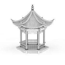 公园<font class='myIsRed'>亭子</font>3d模型