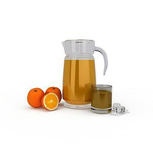 3d水果<font class='myIsRed'>果汁</font>模型