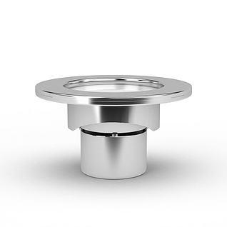 地面金属射灯3d模型
