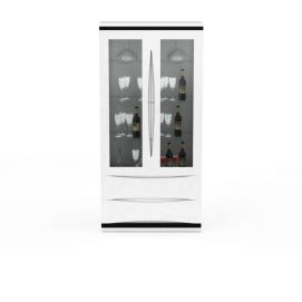 3d双开门餐边柜模型