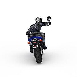 3d高性能摩托模型