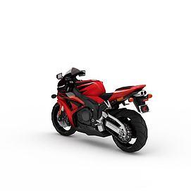 3d红色<font class='myIsRed'>摩托车</font>模型