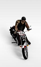 3d田宫<font class='myIsRed'>摩托车</font>模型