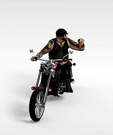 3d摩托赛车模型