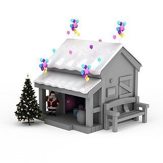 <font class='myIsRed'>圣诞</font>老人小屋3d模型