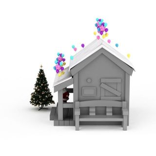 圣诞<font class='myIsRed'>老人</font>小屋3d模型