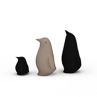 企鹅工艺品摆件3d模型3d模型