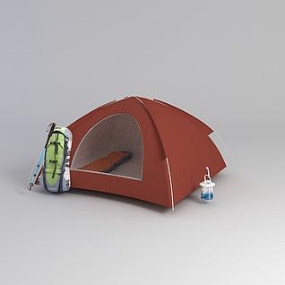 户外露营帐篷3d模型