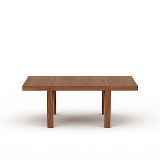 实木桌子3d模型图片