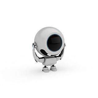 可爱机器人3d模型