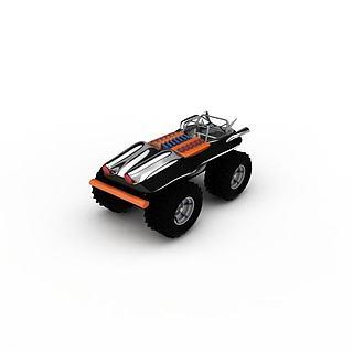 玩具越野车3d模型