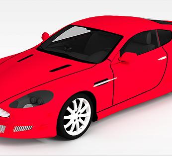 红色小汽车