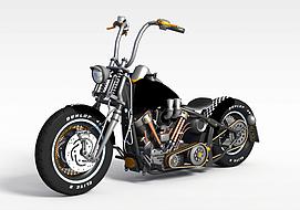 3d哈雷<font class='myIsRed'>摩托车</font>模型