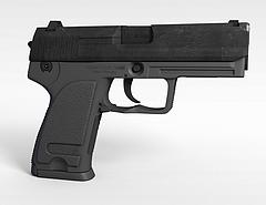 92式手枪模型3d模型