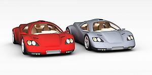 3d塞车模型