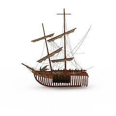 战船模型3d模型