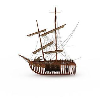 战船3d模型