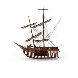 战<font class='myIsRed'>船</font>3d模型