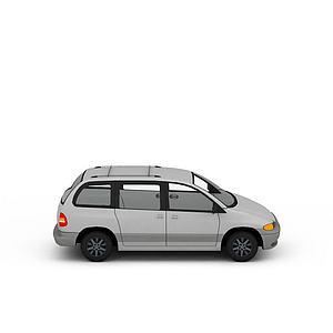3d七座汽車模型