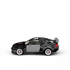 3d迷彩赛车模型