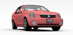 3d粉色<font class='myIsRed'>小汽车</font>模型