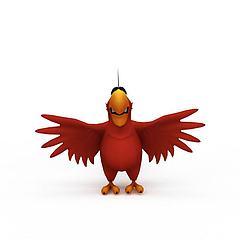 卡通鹦鹉模型3d模型